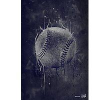 Dark Baseball Photographic Print