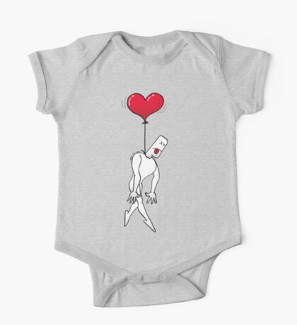 Man Hanged by a Heart Balloon One Piece - Short Sleeve