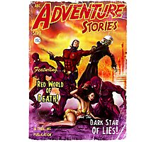 Pulp Adventure Stories: The Red World of Death! Photographic Print