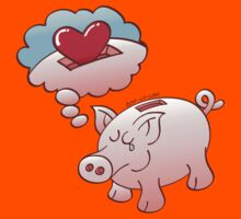 Piggy Bank Daydreaming of Hearts instead of Coins by Zoo-co