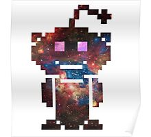 Reddit Galaxy Pixelated  Poster