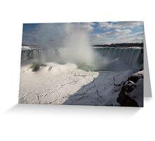 Niagara Falls Ice Buildup Panorama - Canadian Horseshoe Falls, Ontario, Canada Greeting Card