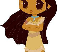 Pocahontas by starlitzombie
