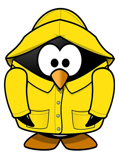 Rain Coat Penguin by kwg2200