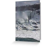 Niagara Falls Ice Buildup - American Falls, New York State, USA Greeting Card