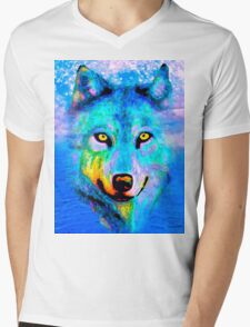 Wolf Mens V-Neck T-Shirt