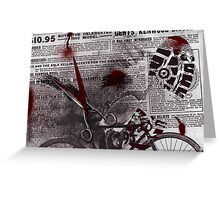 Crime Evidence - Blood and Scissors - Art Prints Greeting Card