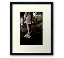 Uggs in the rain Framed Print