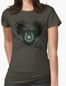 lucky horseshoe crest Womens Fitted T-Shirt