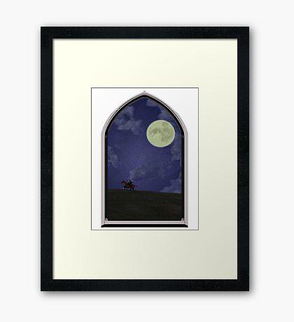 Nightfall in Hyrule Field Framed Print