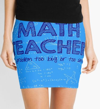 Math Teacher (no problem too big or too small) - blue Mini Skirt