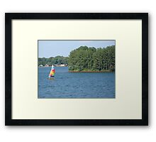 Sailboat at the Lake Framed Print