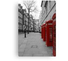 London Telephone Booths Canvas Print