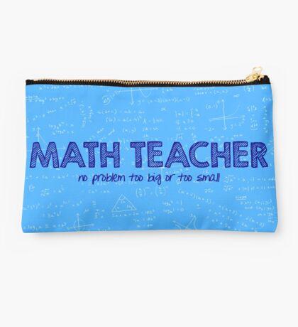 Math Teacher (no problem too big or too small) - blue Studio Pouch