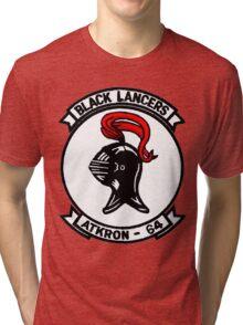 VA-64 Black Lancers Patch Tri-blend T-Shirt