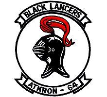 VA-64 Black Lancers Patch Photographic Print