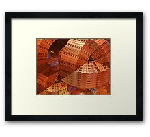 The modern Future, abstract 3-d artwork Framed Print
