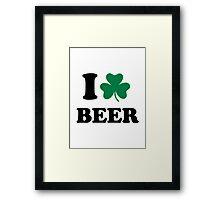 I love beer shamrock Framed Print