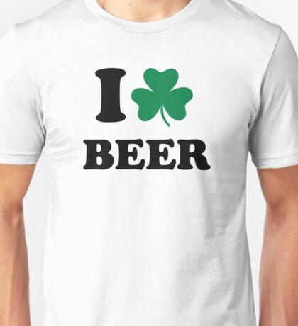 I love beer shamrock Unisex T-Shirt