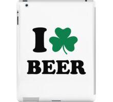 I love beer shamrock iPad Case/Skin
