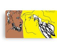 The Conversation -(050214)- Digital Artwork/MS Paint Canvas Print