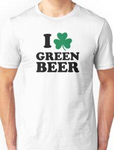 I love green beer shamrock Unisex T-Shirt