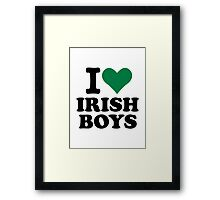 I love irish boys heart Framed Print