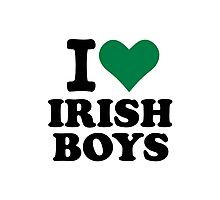 I love irish boys heart Photographic Print