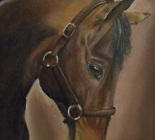 Willow Horse Portrait by Hayley Huckson