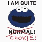 COOKIE MONSTER TEE SHIRT (BLACK TEXT) by mjfouldes