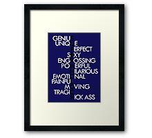 SuperWhoLock [blue] Framed Print