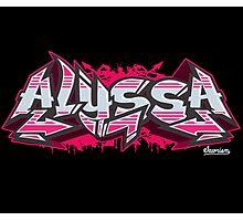 Alyssa Hip-Hop Graffiti Burner Photographic Print