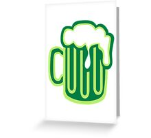Green irish beer Greeting Card