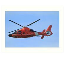 Hawaii Coast Guard Helicopter Art Print