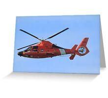 Hawaii Coast Guard Helicopter Greeting Card
