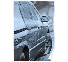 snowy car Poster