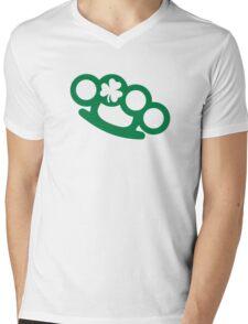 Irish brass knuckles shamrock Mens V-Neck T-Shirt