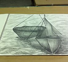 Pencil boat by Annie Morgan