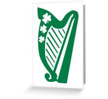 Irish shamrock harp Greeting Card