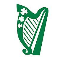 Irish shamrock harp Photographic Print