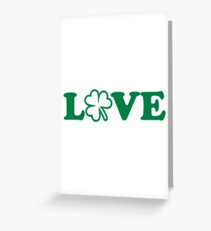 Irish shamrock love Greeting Card