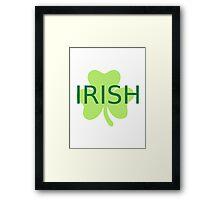Green irish shamrock Framed Print