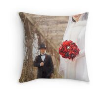 As Snow falls on the Roaring 1920s  Throw Pillow