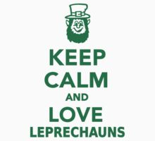 Keep calm and love Leprechauns  Kids Clothes