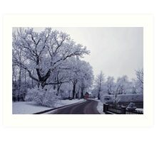 The beautiful side of winter Art Print