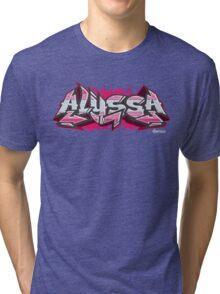 Alyssa Hip-Hop Graffiti Burner Tri-blend T-Shirt