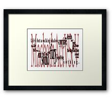 Shakespeare Macbeth Quote : Life's but a Walking Shadow Framed Print