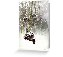 Pandas In The Snow Greeting Card