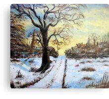 Bright Snow under the tree. Metal Print