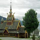 St. Olav church - Balestrand - Norway by Arie Koene